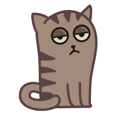 Fixel the Snob cat messages sticker-4