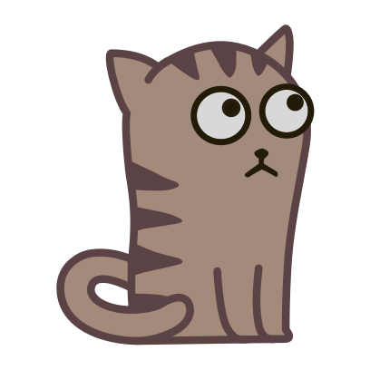 Fixel the Snob cat messages sticker-1