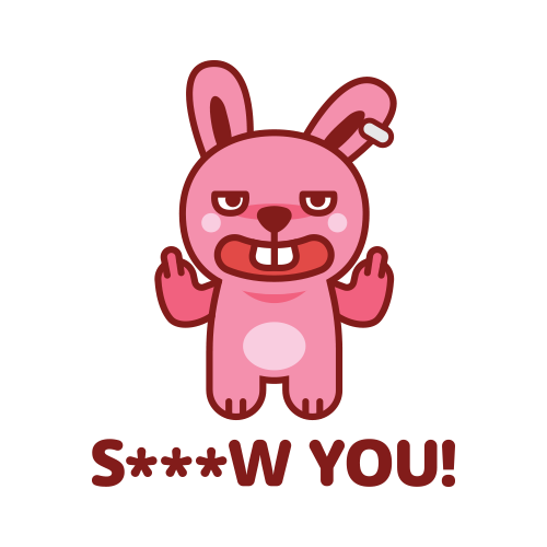 Swagger Bunny messages sticker-1