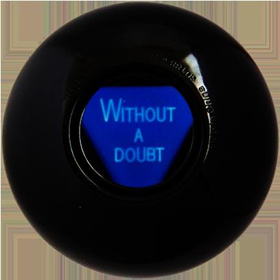 Magic B Ball (magic generic billiard ball) messages sticker-9