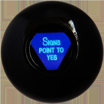 Magic B Ball (magic generic billiard ball) messages sticker-8