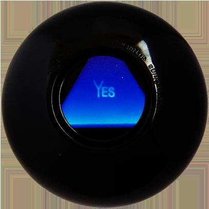 Magic B Ball (magic generic billiard ball) messages sticker-0