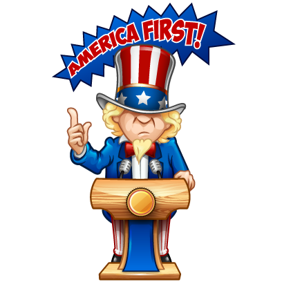 American Greatest messages sticker-0