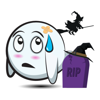 Cute Halloween Ghost - Sticker Pack for iMessage messages sticker-6