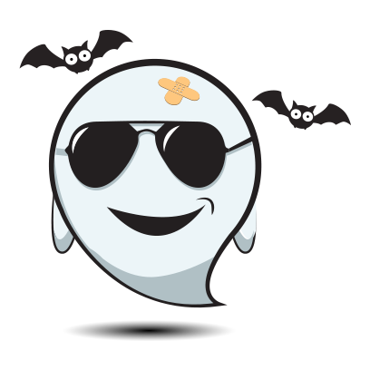 Cute Halloween Ghost - Sticker Pack for iMessage messages sticker-1