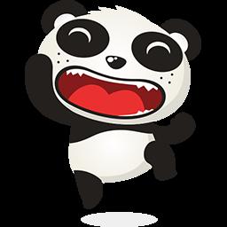 Naive Panda Sticker messages sticker-2