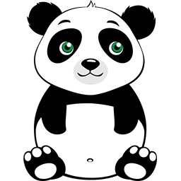 Naive Panda Sticker messages sticker-1