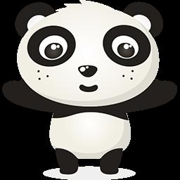 Naive Panda Sticker messages sticker-9
