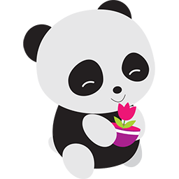 Naive Panda Sticker messages sticker-3