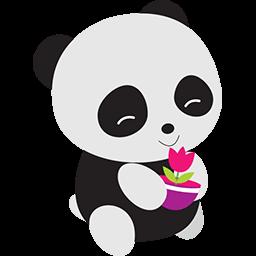 Naive Panda Sticker messages sticker-3