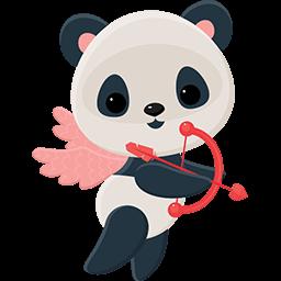 Naive Panda Sticker messages sticker-0