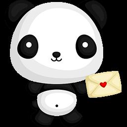 Naive Panda Sticker messages sticker-4