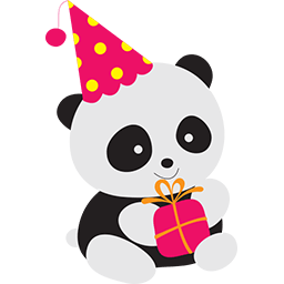 Naive Panda Sticker messages sticker-8