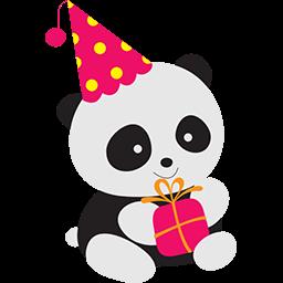Naive Panda Sticker By Hoang Nguyen