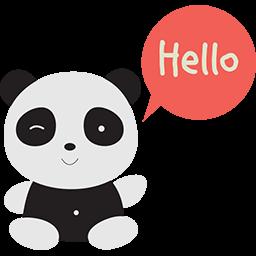 Naive Panda Sticker messages sticker-7