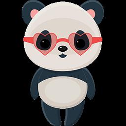 Naive Panda Sticker messages sticker-10