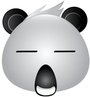 Panda Face Emoji - Sticker messages sticker-2