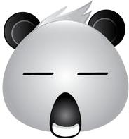 Panda Face Emoji - Sticker messages sticker-2