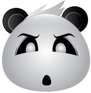 Panda Face Emoji - Sticker messages sticker-8