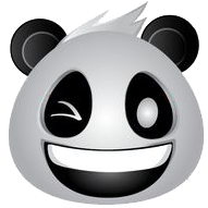 Panda Face Emoji - Sticker messages sticker-11