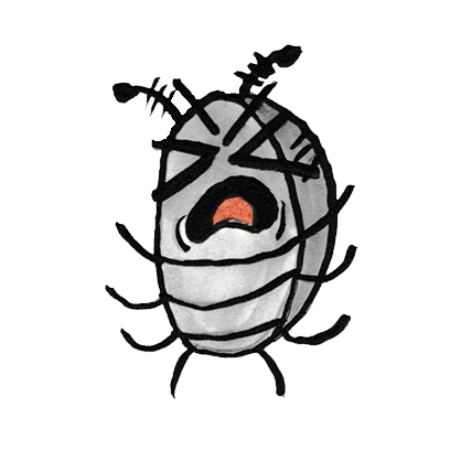 Sammy the Pillbug Stickers messages sticker-2