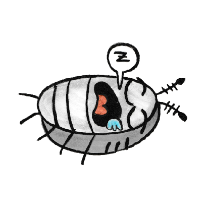 Sammy the Pillbug Stickers messages sticker-3