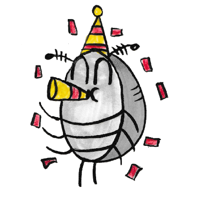 Sammy the Pillbug Stickers messages sticker-7