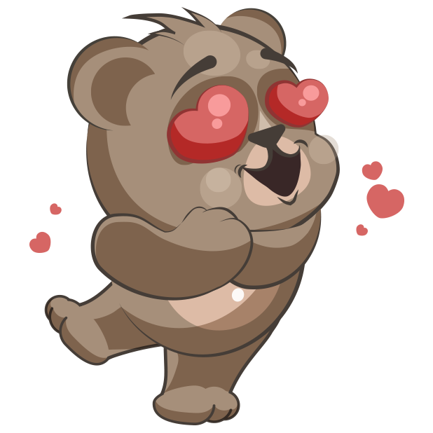 Cuddlebug Teddy Bear Emoji  -Stickers messages sticker-4
