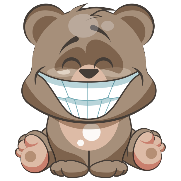 Cuddlebug Teddy Bear Emoji  -Stickers messages sticker-3