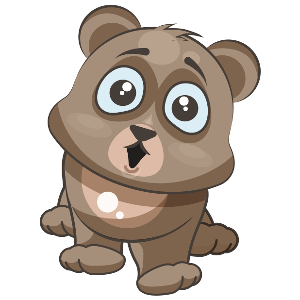 Cuddlebug Teddy Bear Emoji  -Stickers messages sticker-9