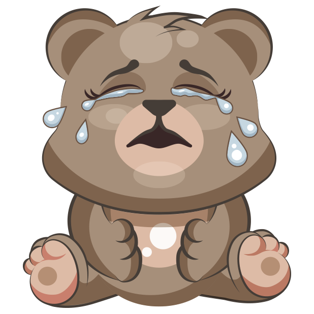 Cuddlebug Teddy Bear Emoji  -Stickers messages sticker-2