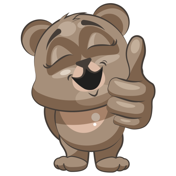 Cuddlebug Teddy Bear Emoji  -Stickers messages sticker-7