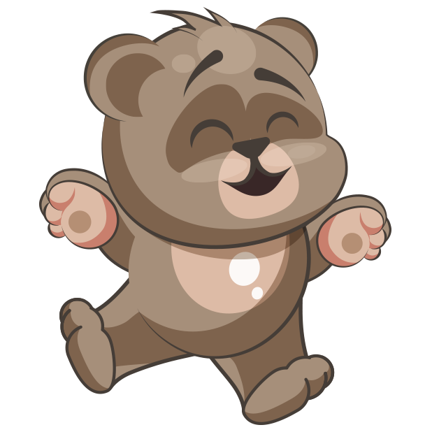 Cuddlebug Teddy Bear Emoji  -Stickers messages sticker-11