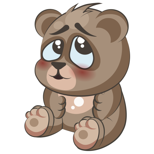 Cuddlebug Teddy Bear Emoji  -Stickers messages sticker-1