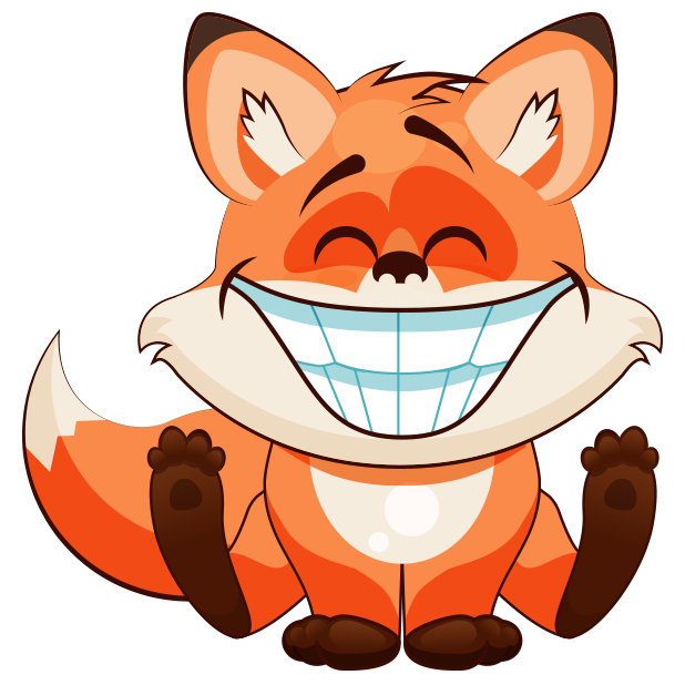 Fox Fun Emoji -Stickers messages sticker-2