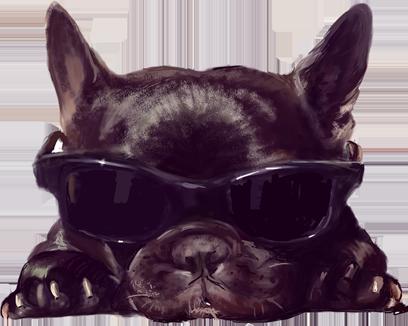 Dogue free pack messages sticker-0