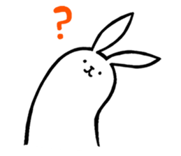 Weird Long Leg Rabbit - Stickers for iMessage messages sticker-2