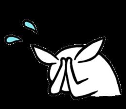 Weird Long Leg Rabbit - Stickers for iMessage messages sticker-3