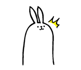 Weird long leg rabbit 2 - Stickers for iMessage messages sticker-4