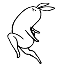 Weird long leg rabbit 2 - Stickers for iMessage messages sticker-2