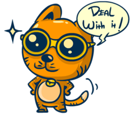 Dooral the silly cat - Stickers for iMessage messages sticker-6