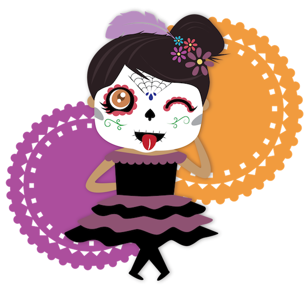 Dulce's Day of the Dead messages sticker-4