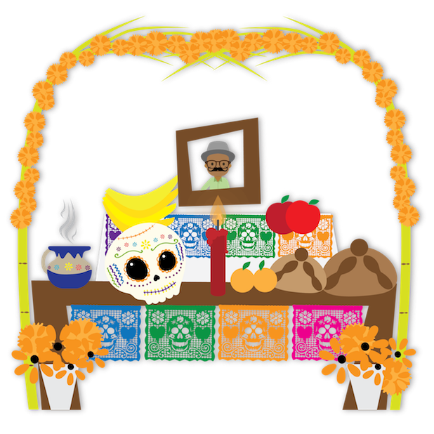 Dulce's Day of the Dead messages sticker-7