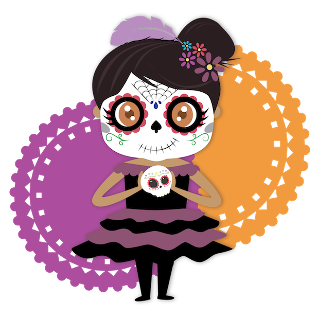 Dulce's Day of the Dead messages sticker-0