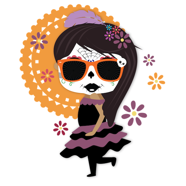 Dulce's Day of the Dead Stickers messages sticker-1
