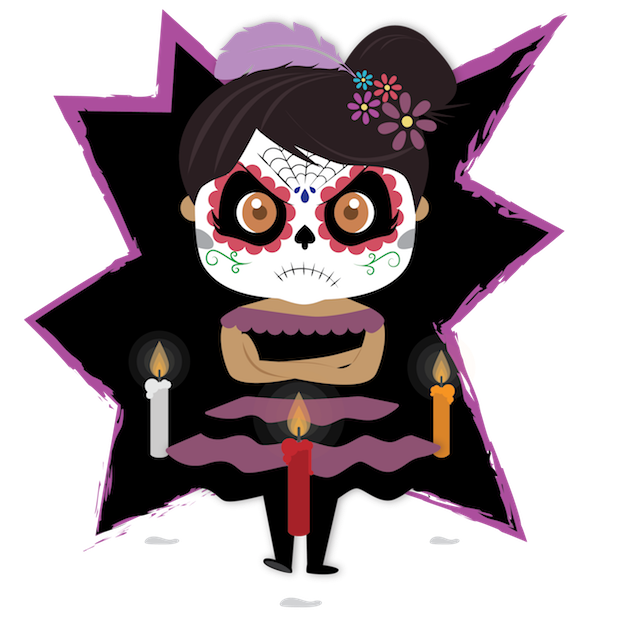 Dulce's Day of the Dead messages sticker-2