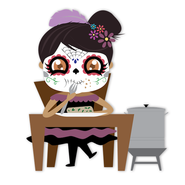 Dulce's Day of the Dead messages sticker-9