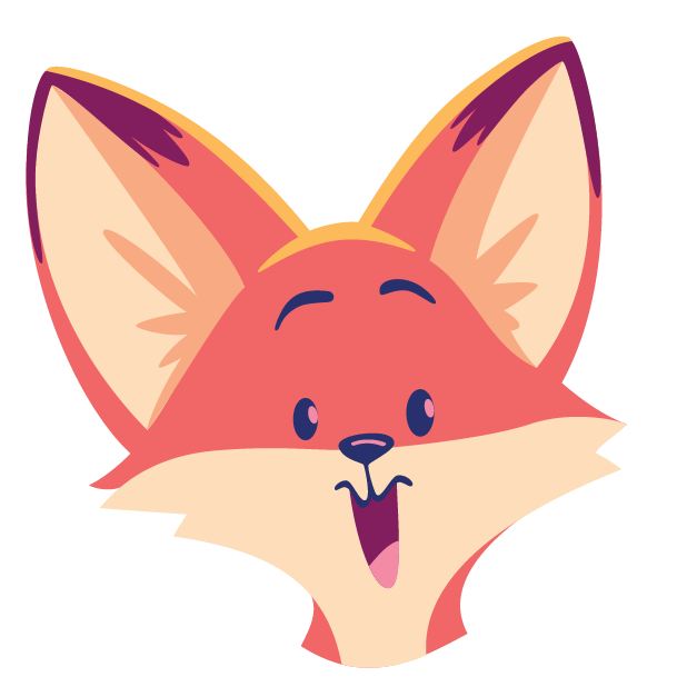 The Happy Fox Stickers messages sticker-0