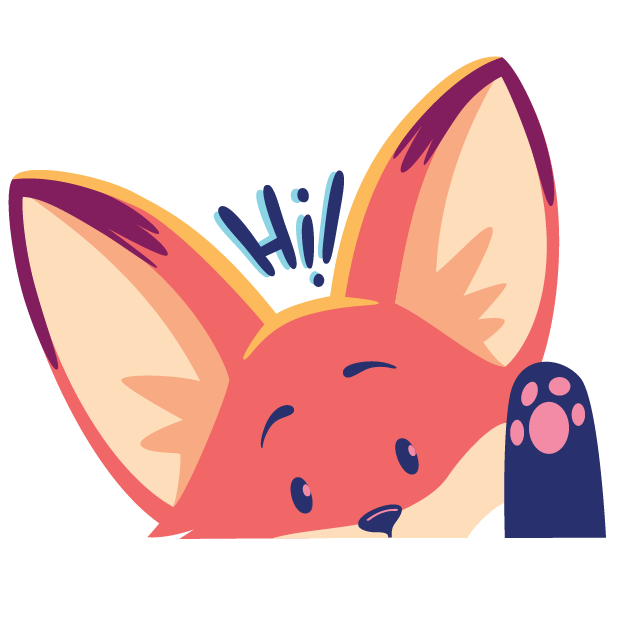 The Happy Fox Stickers messages sticker-1