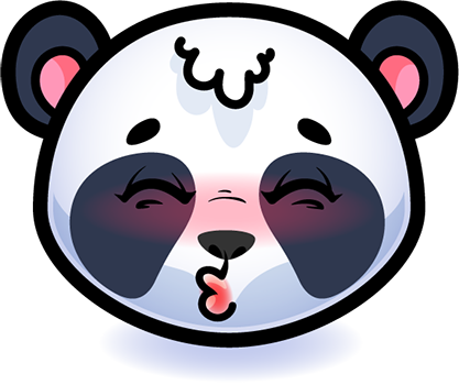 Emotion Panda Sticker - Emoji messages sticker-1